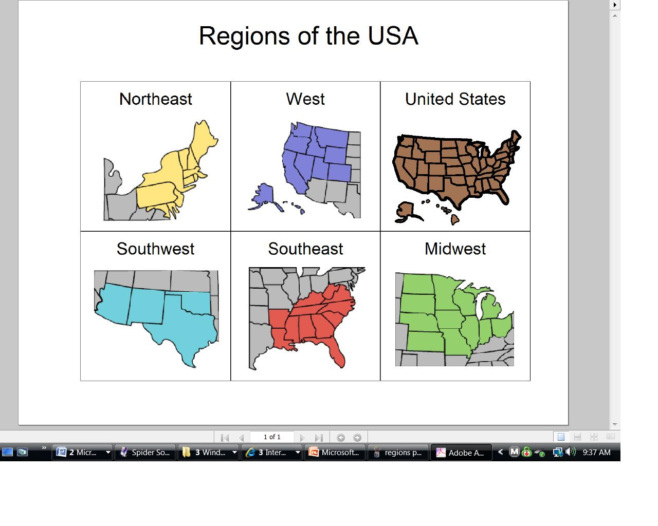 Special Student Services Regions of United States – Us Regions Worksheets