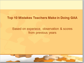 Top 10 mistakes in GAA